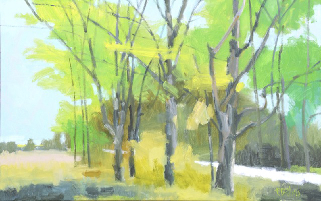Shades Of Green  28″ X 44″